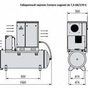 Винтовой компрессор COMARO LEGEND LB 7,5-08/270 E