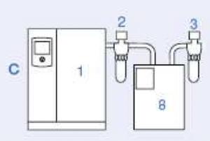 Типовая схема установки систем воздухоподготовки