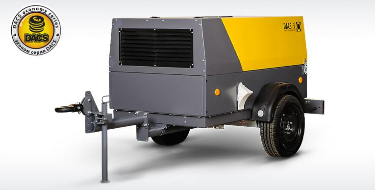 Дизельный компрессор серии DACS производительностью 3 м3/мин