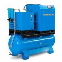 Винтовой компрессор Евразкомпрессор серии Гранит Р с ременным приводом до 22 кВт на ресивере