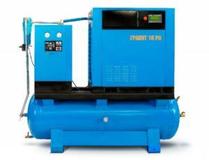 Винтовой компрессор Евразкомпрессор серии Гранит РО с ременным приводом до 22 кВт на ресивере с осушителем