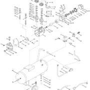 Поршневой маcляный коаксиальный компрессор FUBAG VDC/100 CM3