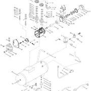 Поршневой маcляный коаксиальный компрессор FUBAG VDC 400/50 CM3