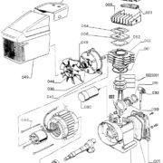 Головка компрессорная Abac F1/241