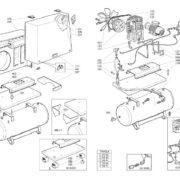 Поршневой малошумный масляный компрессор ABAC B5900/LN/270/FT5,5