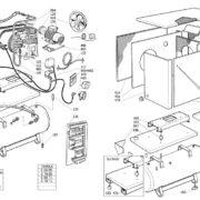Поршневой малошумный масляный компрессор ABAC B7000/LN/T10