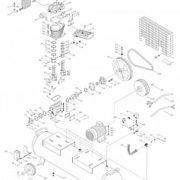 Поршневой маcляный коаксиальный компрессор FUBAG DCF 1700/500 CT15