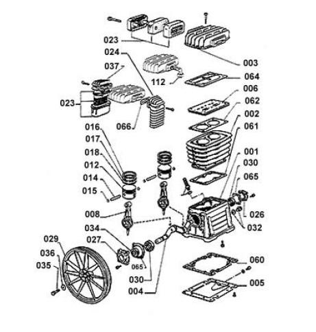 Головка компрессорная Fubag B3800 деталировка